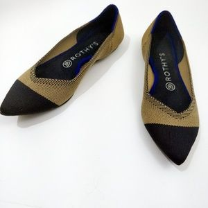 Rothy's Dune Captoe Pointed Flats, Rare Retired